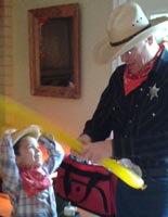 Cowboy Sheriff Balloon Twister costume character #watchthemsmile #SheriffMatty
