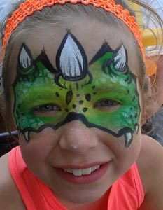 Dinasour face painting rockwall dallas #watchthemsmile