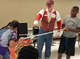 Matty Clown Magic show Rockwall dfw #magicalmatty, #watchthemsmile