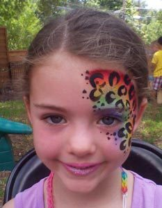 Rainbow Leopard Face painting