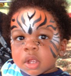 kids party animal face paint dallas rockwall