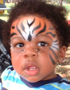 Bengal Tiger face painting