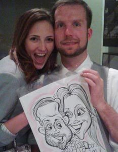 family caricatures Rockwall Dallas #watchthemsmile