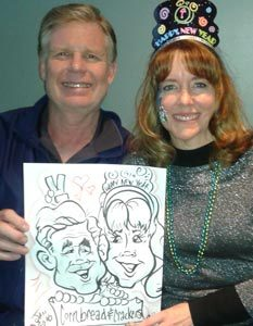couple Caricatures DFW Rockwall #watchthemsmile