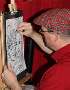 live caricature drawing Rockwall Dallas #watchthemsmile