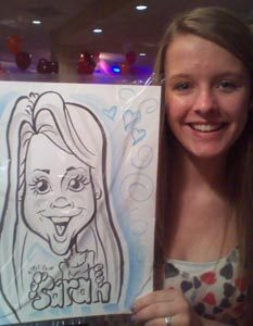 kids party caricatures Rockwall Dallas #watchthemsmile