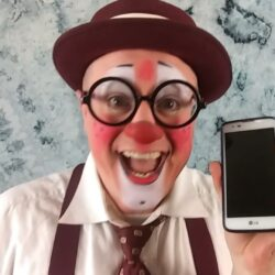 matty mcfun the clown and phone